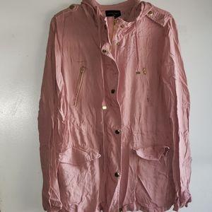 Dusty Rosey Pink - •LOVE TREE•   Hooded Jacket